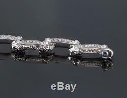 $6,800 Charriol 18K White Gold 1.50ct Round Diamond Millennium 7.5'' Bracelet