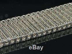 6 Row Mens Tennis Bracelet 2.25 CT. Tw Round Diamonds White Gold Finish Fanook
