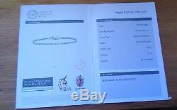 750 18ct White Gold & 2 Carat Diamond Tennis Bracelet With Certificate