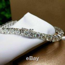 7.00 Ct Round Cut Brilliant Diamond Tennis Bracelet 7 In 14k White Gold Finish