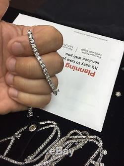 7.00 Ctw Round Brilliant Cut Diamond Tennis Bracelet 14k White Gold