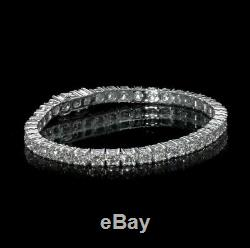 7.00 ct round cut white gold 14k diamond tennis bracelet F VS2 certified