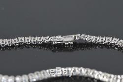 $7,500 18K White Gold 2.50ct F VS2 Round Diamond Tennis Chain 7 Bracelet