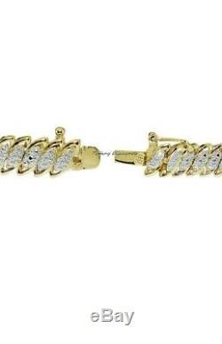 7.50 Tennis Bracelet 14K Yellow Gold Over 7.50 CT Round Cut Diamond Bracelet