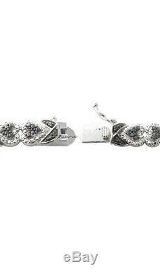 8 Tennis Bracelet 8.00 CT Round Cut Diamond 14K White Gold Over