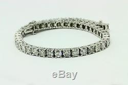 8ct round cut white gold 14k diamond tennis bracelet G SI2 NATURAL CERTIFIED