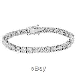9 ct Genuine Diamond Tennis Bracelet 7 14K White Gold