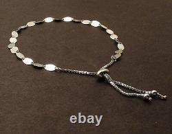 Adjustable Gucci Mariner Link Bracelet REAL Solid 14K White Gold For ALL WRISTS