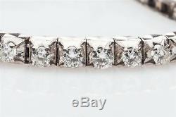 Antique 1940s RETRO $6000 2ct VS G Diamond 18k White Gold Tennis Bracelet