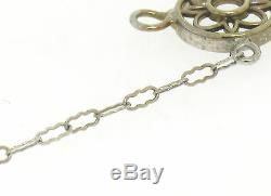 Antique Art Deco Filigree 14k White Gold Camphor Glass Crystal Diamond Bracelet