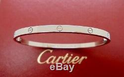 Authentic Cartier Love Bracelet SM 18k White Gold Size 18 with CoA RRP$6,500