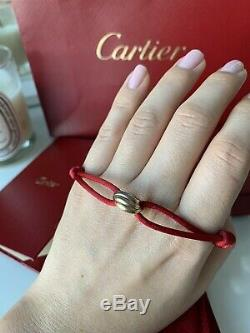 Authentic Cartier Trinity Cord Bracelet 18ct White Yellow Rose Gold