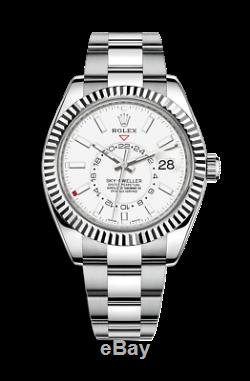 BNIB Rolex SKY-DWELLER White Gold & Steel Watch BRACELET 326934 x