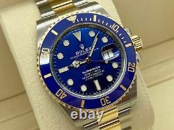 BNWT Rolex Submariner 41 Blue steel / gold Dec 2020 126613 LB