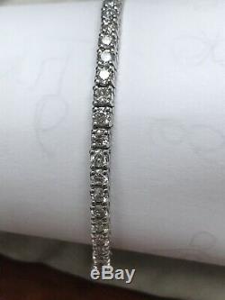 Beautiful Tennis Bracelet 3.00 Ctw G-si1 Natural Genuine Diamonds 14k White Gold