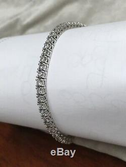 Beautiful Tennis Bracelet 5.00 Ctw G-si1 Natural Genuine Diamonds 14k White Gold