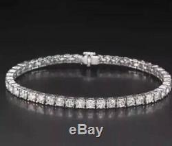 Beautiful Tennis Bracelet 6.00 Ctw G-si2 Natural Diamonds 14k White Gold