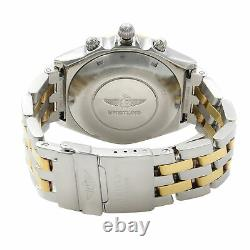 Breitling Chronomat Steel 18K Yellow Gold White Dial Automatic Mens Watch D13047