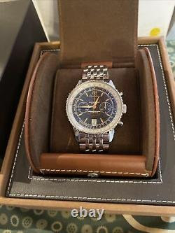 Breitling Navitimer Montbrillant Edition Manual A48330 Chronograph SS Bracelet
