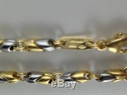 Bvlgari Bulgari Bracelet Anklet in 18k 750 White & Yellow Gold Unisex 9 inches