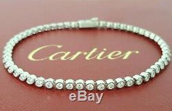 C De Cartie 18K White Gold 1.53 ct Round Cut Diamond Bracelet Rtl $12,600