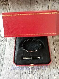 Cartier18kwhitegold4diamondslovebraceletcertificateboxsize16