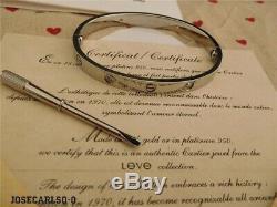 Cartier18kwhitegold4diamondslovebraceletwithcertificateand