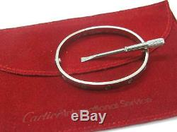 Cartier 18Kt Love Bracelet / Bangle White Gold Size 16 FT5543
