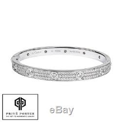 fcd3bac62ef33b Cartier 18k White Gold Diamond Paved Pave Love Bracelet 18cm N6033603  $58,000
