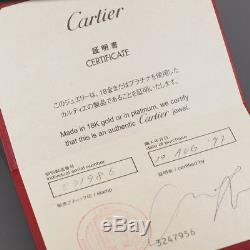Cartier 18k White Gold Spartacus Link Chain Bracelet With Certificate & Box