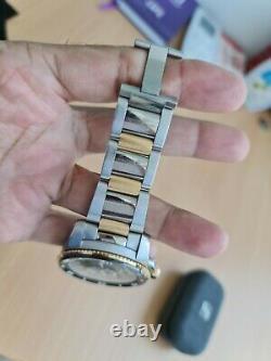 Cartier Calibre De Cartier Diver Watch 18k Solid Rose Gold & Ss Black Bezel