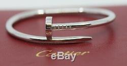 Cartier Juste Un Clou 18K White Gold Bracelet Size 15