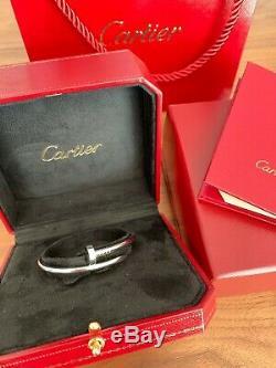 Cartier Juste un Clou Bracelet White Gold 18k Size 17 Box Certificate B6048317