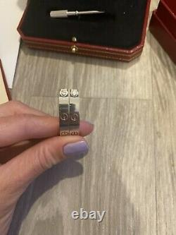 Cartier Love Bracelet 18 Ct White Gold Size 16