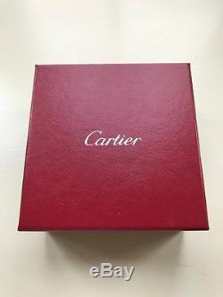 Cartier Love Bracelet White Gold Cuff Bracelet Size 18