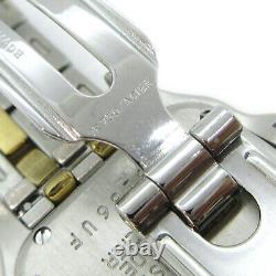 Cartier Panthere 1120 Small Two Row Ladies Quartz Wristwatch Watch SS K18 34890