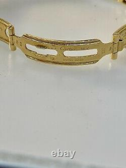 Cartier Panthere 22mm Yellow Gold Diamond White Dial Bracelet Ladies Watch