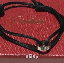 Cartier White Gold Love Cord Bracelet