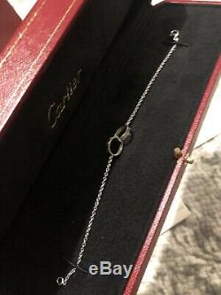 Cartier love bracelet, 18k white gold