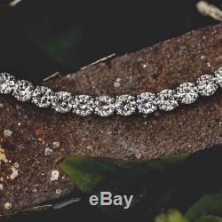Certified Mens 5CT (3MM) Round Diamond Tennis Fashion Bracelet 14k White Gold