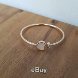 Chopard Happy Hearts 18ct Rose Gold Diamond & White Mother of Pearl Bangle