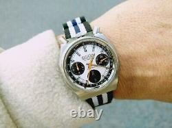Citizen 8110 Panda Octagon Bullhead Automatic Chronograph Working All Functions