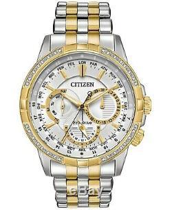Citizen Men's Eco-Drive Calendrier Diamond-Accent Two-Tone Watch BU2084-51A