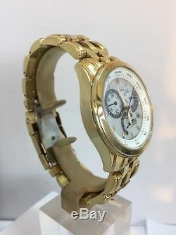 Citizen Mens Analog White Dial Eco-Drive Gold Tone Bracelet Watch BL8006-58A