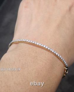 Deal! 1.00 CT Natural 100% Round Diamond Tennis Bangle Bracelet in 14KT Gold