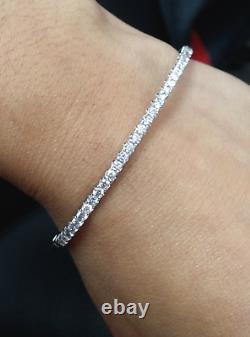 Deal! 2.00 CT 100% Natural Genuine Diamonds Tennis Bangle Bracelet in 14K Gold