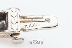 Designer $15,000 Signed TK & Co 7ct Diamond 14k White Gold Tennis Bracelet