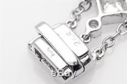 Designer $8000 2.46ct VS G Princess Cut & Round Diamond 18k White Gold Bracelet