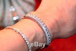 Diamond Bangle Bracelet 5.64 Carats G, Round Brillant 18k White Gold 6.5 Wrist