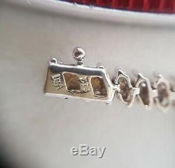 Diamond Bracelet 9ct White Gold 1.0crt real diamonds. Tennis Style Mothers Day
